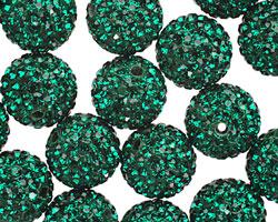 Emerald Pave (w/ Preciosa Crystals) Round 12mm