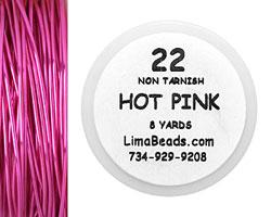 Parawire Hot Pink 22 Gauge, 8 Yards
