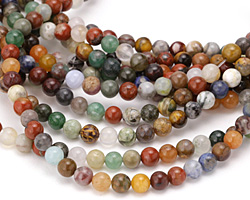 Multi Gemstone (Sodalite, Tiger Eye, Red Jasper, Aventurine) Round 6mm