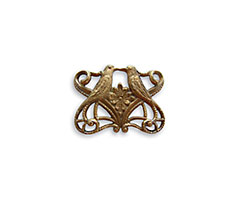 Vintaj Natural Brass Love Birds Connector 19x14mm