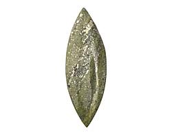 Chalcopyrite Large Horse Eye Pendant (large hole) 31x84-89mm