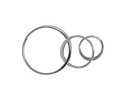 Nina Designs Sterling Silver 3 Circles Link 37x18mm