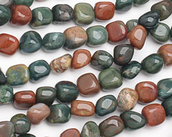 Bloodstone Tumbled Nugget 10-12x8-10mm