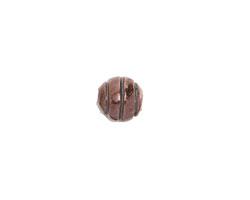 Greek Bronze (plated) Striped Round 8mm