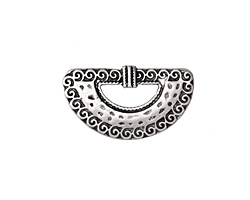 Zola Elements Antique Silver (plated) Tidalwave Arc 5mm Flat Cord Slide 29x17mm