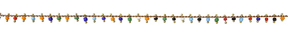 Zola Elements Multi Color Seed Bead Drops Brass Chain