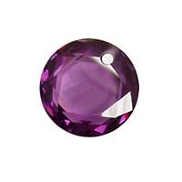 Violet Faceted Coin 16mm