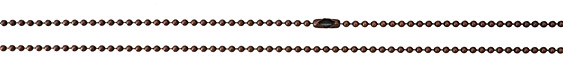 TierraCast Antique Copper (plated) Stainless Steel Finished Ball Chain 30""