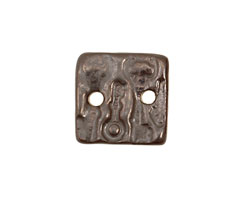 Earthenwood Studio Ceramic Pewter Small Square Keys Link 19mm
