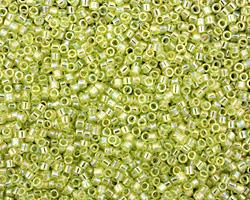 TOHO Transparent Rainbow Lime Green Treasure #1 Seed Bead