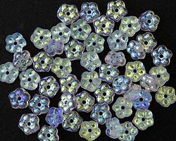Czech Glass AB Crystal Bali Style Daisy Spacer 2x5mm