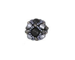 Shadow Hand Woven Round Bead 15mm