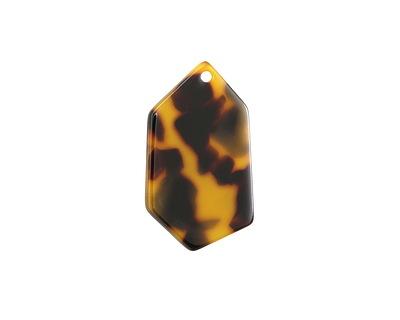 Zola Elements Tortoise Shell Acetate Gem Cut Focal 18x31mm