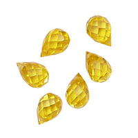Sunshine Faceted Teardrop 6x9mm