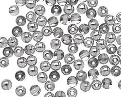 Czech Glass Silver 1/2 Round 4mm