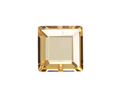 Champagne Faceted Square 18mm