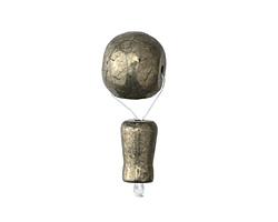 Golden Pyrite Guru Bead 12x31mm
