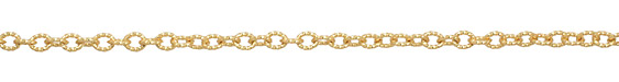 Satin Hamilton Gold (plated) Roped Cable Chain