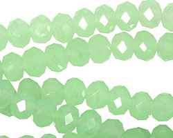 Green Opal Crystal Faceted Rondelle 8mm