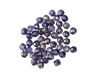 Czech Fire Polished Glass Lustered Twilight Round 3mm