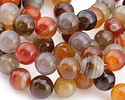 Multi Stone (Carnelian & Agate) Round 14mm