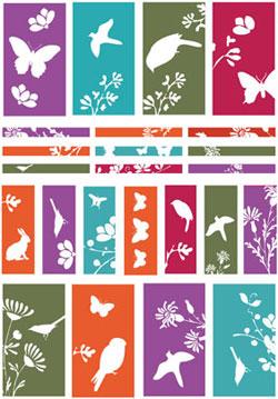 Nunn Design Silhouette Channel Bead Collage Sheet