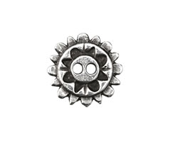 Greek Pewter Sunshine Button 20mm