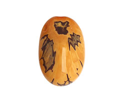Tagua Nut Gold Nugget (3-hole) 22-30x37-42mm