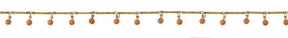 Zola Elements Brass Bar Chain w/ Coral Sunflower Charm