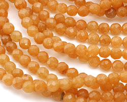 Red Aventurine Faceted Round 6mm