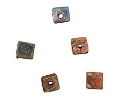XAZ Raku Stan's Rust Cube 6-8x6-7mm