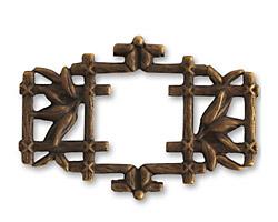 Vintaj Natural Brass Asian Frame 40x27mm