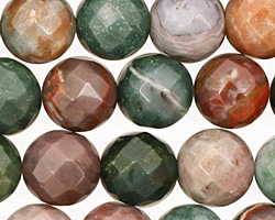 Fancy Jasper Faceted Round 12mm