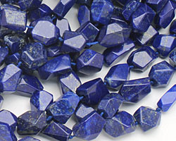 Lapis (A) Faceted Nugget 12-14x10-13mm