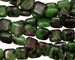 Ruby Zoisite Puff Square 8mm