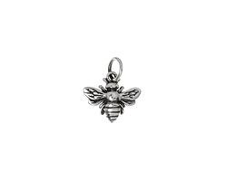 Nina Designs Sterling Silver Honeybee Charm 12x14mm