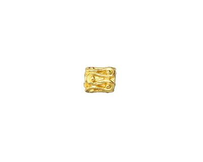 Greek Gold (plated) Squiggle & Balls Barrel 7x6mm