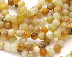 Yellow Opal Round 6mm