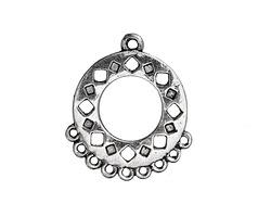 Antique Silver Finish Dancing Diamonds Chandelier Focal 20x25mm
