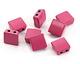 Berry Enamel 2-Hole Tile Square Bead 8mm