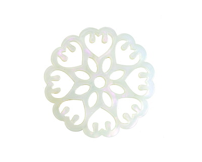Zola Elements Green Opal Acetate Floral Openwork Mandala Focal 40mm