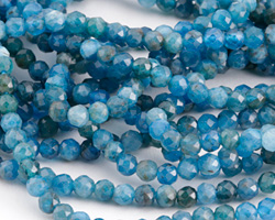 Pacific Blue Apatite Faceted Round 4.5-5mm