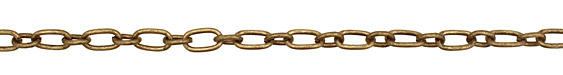 Antique Brass (plated) Rectangle & Oval Link Chain