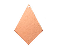 Copper Diamond Drop Blank 22x31mm