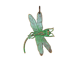 Vintaj Vogue Natural Brass Art Deco Dragonfly 35x47mm
