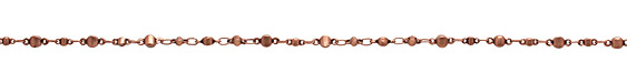 Antique Copper (plated) Alternating Disc Chain