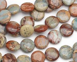 Impression Jasper Puff Coin 14mm