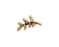 Nunn Design Antique Gold (plated) Fern Toggle Bar 19x9mm