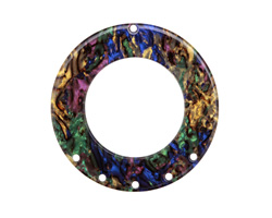 Zola Elements Abalone Acetate Donut Chandelier 38mm