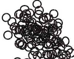 Artistic Wire Black Chain Maille Jump Ring 5.56mm, 18 gauge
